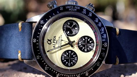 paul newman homage alpha paul newman daytona homage watch review youtube