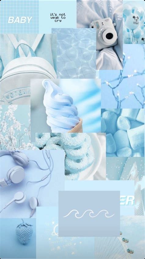pastel vintage blue aesthetic wallpapers