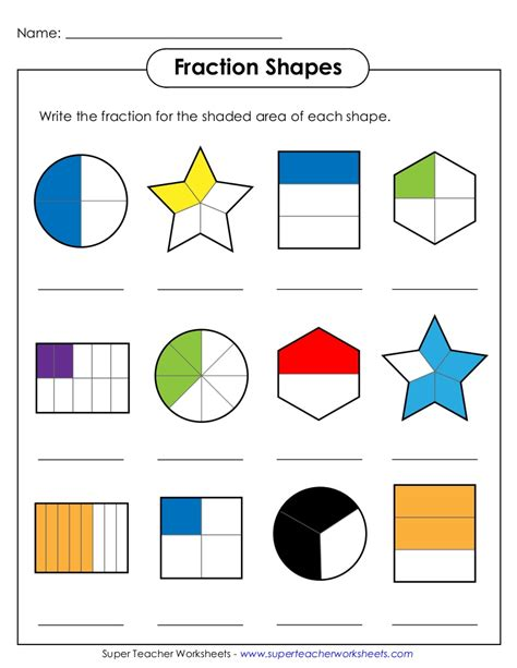 Fraction Shapes2 Werty