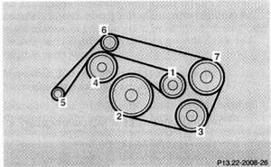Is There A Diagram Of Parts Connected To The Serpentine Belt