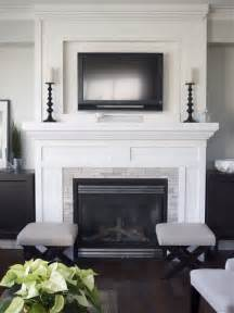 Tile Fireplaces with TV Above