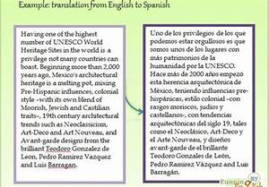Translate your text information from english to spanish for Translate my document to spanish