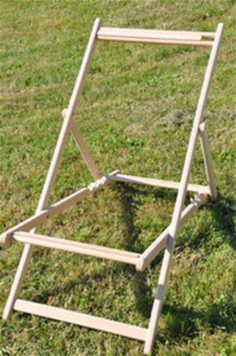 toile pour chaise longue structure pour chilienne transat en bois sans toile trs