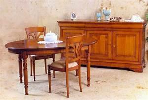 Meuble de salle a manger de style louis philippe en for Meuble salle À manger avec buffet bas salle À manger
