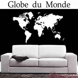 Carte Du Monde Sticker : sticker carte du monde france stickers ~ Dode.kayakingforconservation.com Idées de Décoration