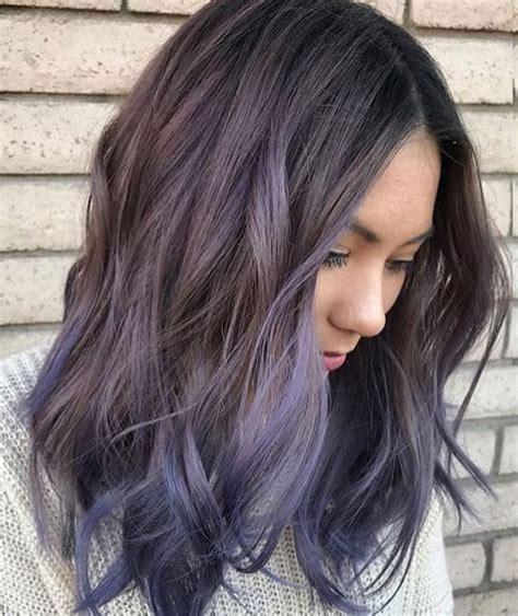 top balayage  dark hair black  dark brown hair
