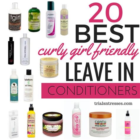 curly girl friendly leave  conditioners
