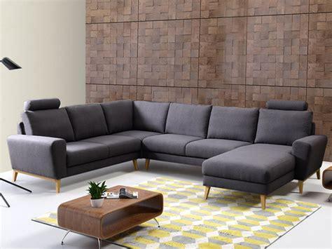 vente unique canapé angle canapé d 39 angle panoramique tissu visby pas cher canapé