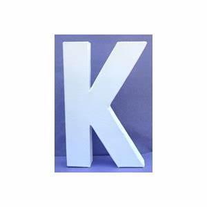 Lettre En Carton À Peindre : lettre 3d k 12cm maison pratic boutique pour vos loisirs creatifs et votre deco ~ Nature-et-papiers.com Idées de Décoration