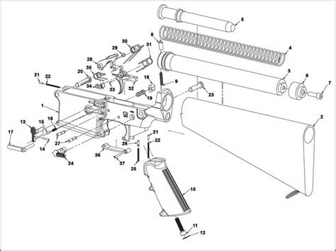 Ar 15 Assembly Diagram by Ar 15 Exploded Parts Diagram Downloaddescargar