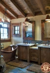 rustic bathroom decorating ideas rustic design element wooden ceiling 20 photos messagenote