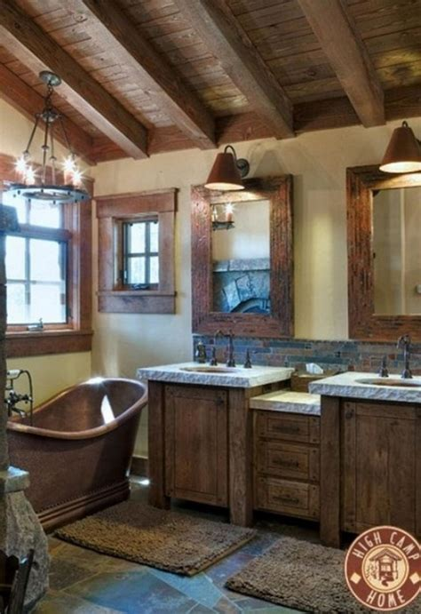 rustic bathroom designs rustic design element wooden ceiling 20 photos Modern