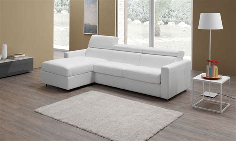 canapé home center canapé d 39 angle convertible en cuir morris altoni leather