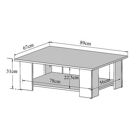 table basse hauteur standard