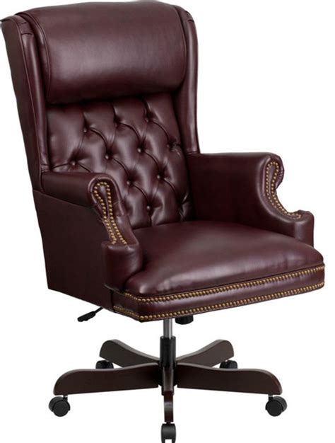 flash furniture high back tufted burgundy leather
