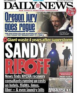 Tomorrow's front page sandy ripoff news finds nycha ...
