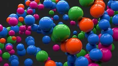 Colorful Balloons Background Desktop Bubbles 3d Ballons