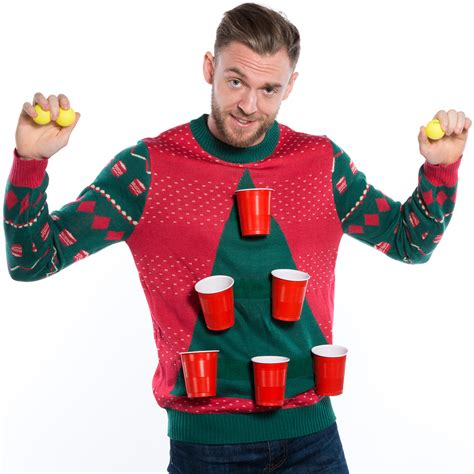 igly sweater cheer pong sweater by tipsy elves