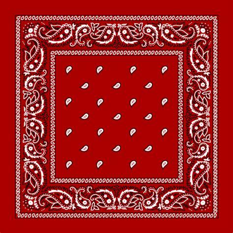 red paisley bandana single piece