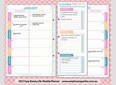 Get organised in 2016! The 2016 Easy Breezy Life Weekly