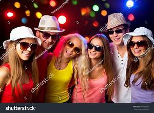 Young People Having Fun A Party. Stock Photo 350505593 ...