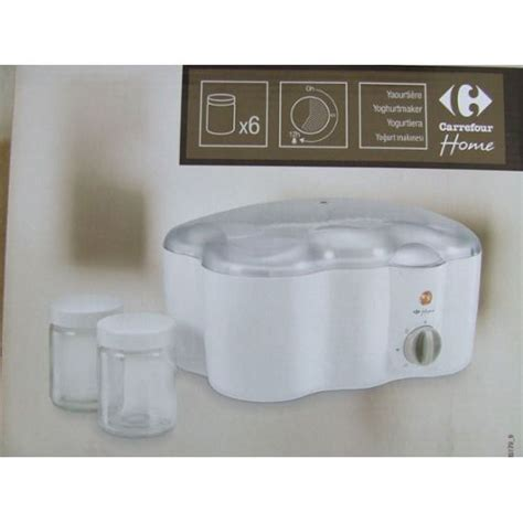 carrefour home hym5179 9 yaourti 232 re 6 pots pas cher
