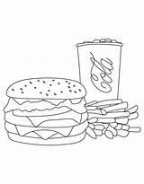 Burger Coloring Fries Cola Junk King Trio Template Colouring Colornimbus Cartoon Pusheen Fai Te sketch template