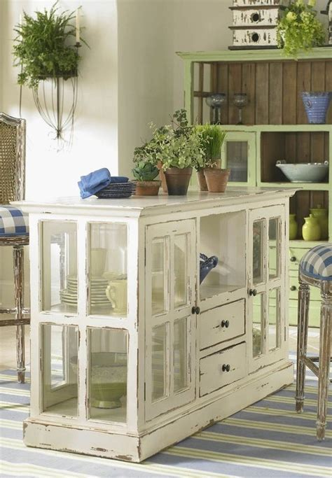 Beautiful Kitchen island Made From Old Dresser   GL
