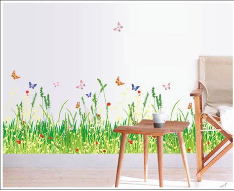Wall Mural Decals Nature by Nature Grass Wall Decals Fence Stickers For Stair Vinyl