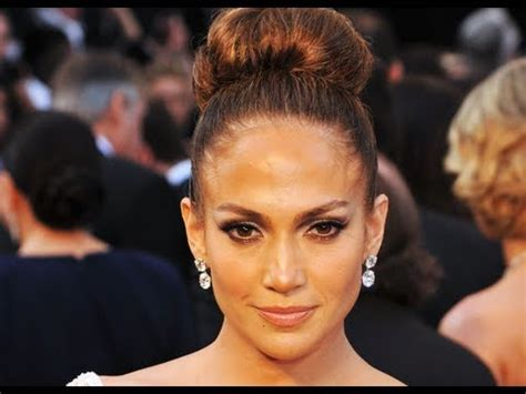 Jennifer Lopez Oscars Hair Tutorial: High Bun Updo   YouTube