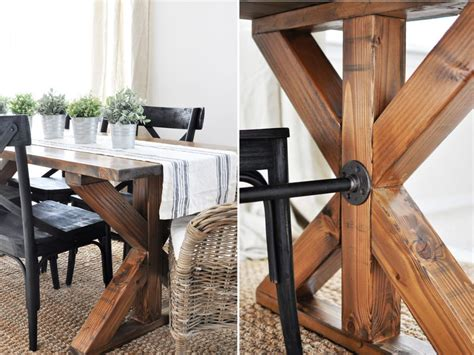 diy farmhouse kitchen table projects  beginners