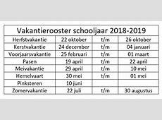 Schoolvakanties 2018 2019