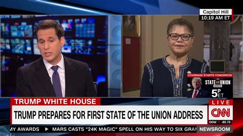 Rep. Karen Bass Says Trump Will Lie During State Of The ...