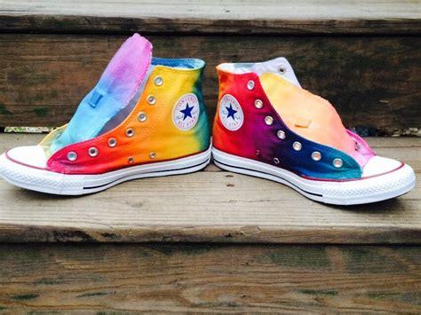 Tie Dye Rainbow High Top Custom Converse Shoes