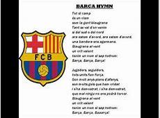 BARCELONABARCA HYMN with lyrics YouTube