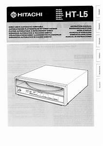Hitachi Ht-l5 Owner U0026 39 S Manual