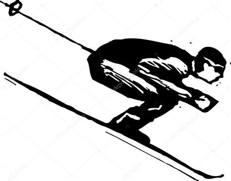 Vector Illustration of Downhill Skier — Stock Vector ...