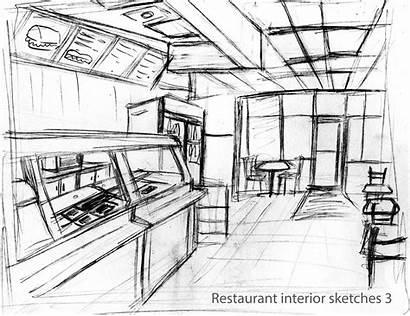Interior Research Development Restaurant Sketches Gamble Mart