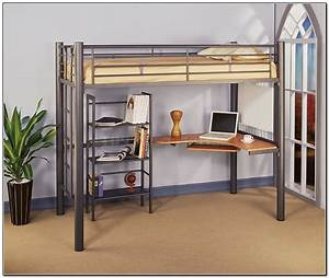 Twin, Loft, Bed, With, Desk