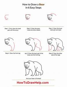 Learn how to draw a Bear - Step by Step Tutorial for Kids ...