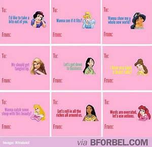 Dirty Disney Princess Valentine Cards | Funny | Pinterest