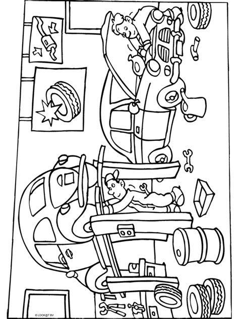 Rijbewijs Kleurplaat by Kleurplaat Garage Reparatie Kleurplaten Nl
