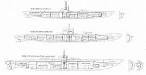 File German U Boats  Outlines Compared  Warships To