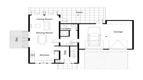 simple house floor plan simple  bedroom house floor plans