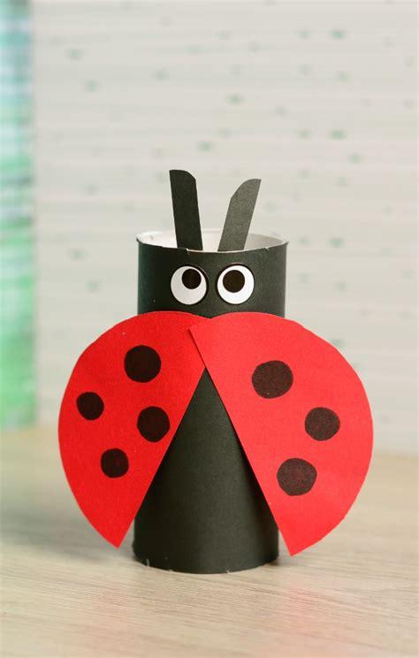toilet paper roll ladybug craft easy peasy  fun