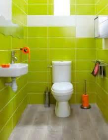Idee Carrelage Wc by D 233 Co Wc Fa 239 Ence Murale Vert Anis Accessoires Orange