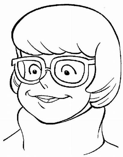 Scooby Doo Velma Coloring Pages Cartoon Characters