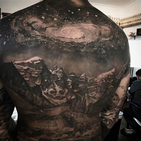 galaxy mountains  tattoo  tattoo design ideas
