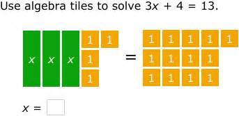 ixl model and solve equations using algebra tiles 8th