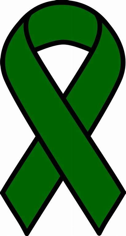 Ribbon Cancer Liver Clipart Emerald Clip Sign